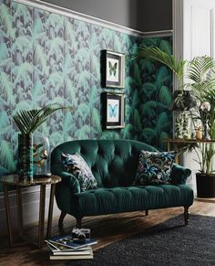 The finished room living room interior, art deco interior bedroom, Salon Art Deco, Arte Art Deco, Art Deco Home, Art Deco Style, Art Deco Decor, Wall Decor, Wall Mural, Green Interior Design, Interior Design Inspiration