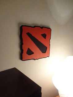 Dota 2 Wall Hanging - I wonder if I could pull this off for Jacob
