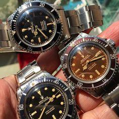 ROLEX GILT DIAL 5512/5513 PCG #rare #Rolex #rareRolex #nbtimes #sub #submariner #PointyCrownGuard #pcg #chapterRing #gilt #gilt5512 #giltdial #glossygiltdial #vintage #vintageRolex #antique #luxury #wristwatch #watch #5512 #5513 #Tropical #brown #brownDial