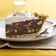 Dark Chocolate-Walnut Caramel Pie