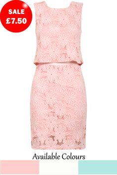 Crochet Floral Lace Top & Skirt Set - Babez London