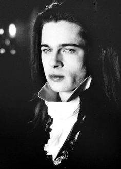 "Brad Pitt: ""LOUIS,"" sexy and cool , in Interview With the Vampire. The way vampires are suppose to be, thank you Anne Rice. Vampire Dracula, Vampire Love, Brad Pitt Interview, Vampire Diaries, Lestat And Louis, Queen Of The Damned, The Vampire Chronicles, Interview With The Vampire, Fiction"