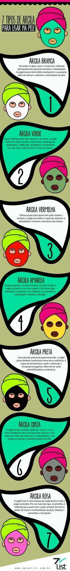 7 cores de Argila e os benefícios para a pele