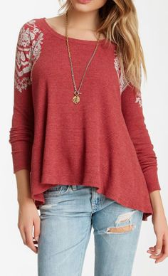 Free People | Rockabilly Thermal Raglan Tee