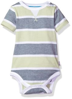 682a36fa976 Burts Bees Baby Baby Boys Organic Short Sleeve Bodysuit Meadow Stripe 12  Months   You can