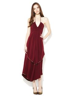Marc by Marc Jacobs Lurex Piped Ruched Halter Dress