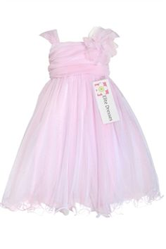 Girl's Pink Organza Flower Girl Dress with Floral Accent -  So sweet for my little granddaughter...