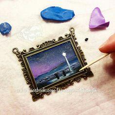 #wip #makinglalaland #lalaland #lalalandmovie #polymerclay #fimo #lecreazionidifranzin #movie #art #movieart #painting #polymerclaypainting #making #lovelynight #city #star #stars #cityofstars