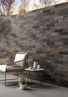 Terramix Brick Nero wall and floor tiles | Terramix - Brick effect porcelain stoneware | Marazzi