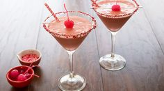 Booze and ice cream. What could be better? How about a bright pink cocktail that tastes like vanilla and amaretto? A simple milkshake-style cocktail that belongs on the set of Mad Men.