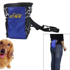 Pet Snack Bag Pet Training Waist Bag Dog Training Food Treat Pouch Bag Blue ** Special dog product just for you. See it now! : Dog Food