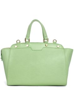 Mint Rivet Tote Leather Bag