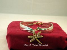 Mixed Silver And Gold Plate Bracelet