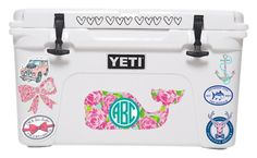 """Yeti cooler contest entry"" by jiejiebear ❤ liked on Polyvore featuring Lilly Pulitzer, Southern Tide and gracesyeticooler"