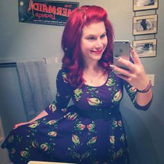 Currently stuck at the gas station with a car that won't start. (Yes hubs is coming to retrieve me.) But at least I loved my outfit today! Traded in my too big Venus Flytrap skirt for this beauty. I'll get the skirt again around Halloween.  Dress is the Hotrod Honey from @pinupgirlclothing and if look closely I also have my Audrey brooch on made by Christine McClellan! #pinupgirlclothing #hotrodhoney #venusflytrap #pinup #pinupgirl #pinupgram #pinupgirlstyle #pinupfashion #pinupgirlfashion…