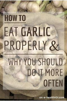 How To Eat Garlic Properly And Why You Should Do It More Often - Garlic was used as a medicine long before it was ever thought of being used as a flavour booster though – The Chinese, Babylonians, Romans, Greeks, Egyptians, and Indians all medicated with the herb whenever they were starting to fall ill.