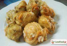 Παραδοσιακοί Κολοκυθοανθοί γεμιστοί με ρύζι από την Κρήτη Rice Recipes, Potato Salad, Shrimp, Potatoes, Meat, Ethnic Recipes, Food, Eten, Potato