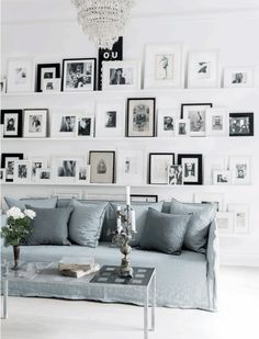 Gallery wall #Livingroom #PhotoDisplay