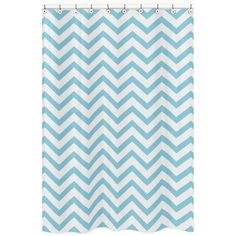 Sweet Jojo Designs Turquoise/ White Chevron Zigzag Shower Curtain | Overstock.com Shopping - Great Deals on Sweet Jojo Designs Shower Curtai...