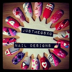 valentine nails hearts nail wheel ideas shellac