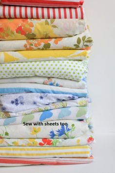 vintage sheets for sewing