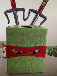 teenage mutant ninja turtle valentine box diy | tmnt centerpiece. | Teenage Mutant Ninja Turtles