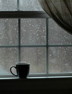 Cup of coffee on a rainy day ~