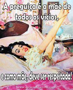 Ah essa preguiça.  #retro #bomdia #mãe #preguiça #cama #pinup