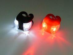 LED Fahrradleuchte Frog Rot Schwarz Fahrradlicht Fahradset Fahrrad Lampe Licht: Amazon.de: Sport & Freizeit