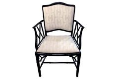 Faux-Bamboo Graphic Armchair
