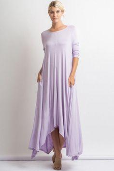 Free Falling Long Sleeve Maxi Dress - Blush - ShopLuckyDuck  - 2