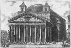 Giovanni Battista Piranesi, View of the Pantheon, 1761 #Mauradawg