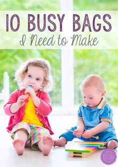 10 Busy Bags I Need to Make-Making your own busy bags can save SOOO much money and frustration! If you have a toddler or preschooler who you have to take with you to the doctor's, ballet class, or homeschool group and they need to be kept occupied, then busy bags are the answer!