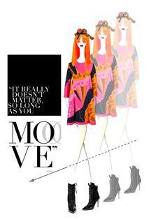 """move"" by collagette ❤ liked on Polyvore featuring art, GiuseppeZanotti, StuartWeitzman and hanaemori"