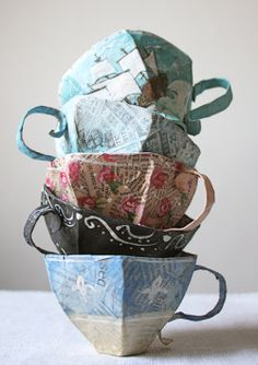 Ann Wood paper teacup