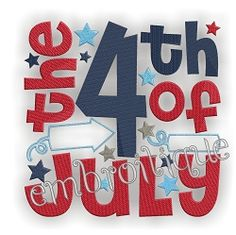 4th of July Block, 2 Styles - 3 Sizes! | 4th of July | Machine Embroidery Designs | SWAKembroidery.com Embroitique