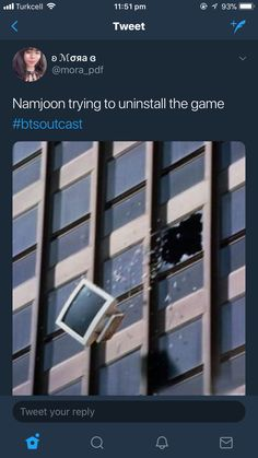 I haven't even read BTS outcast but it's still funny imagining Namjoon throwing a computer out of a window in anger