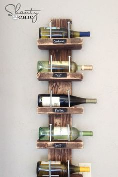 What better material is there for a vintage-style wine rack than a few smooth repurposed wooden boards? With the right eye for design, deconstructed pallet boards are just waiting to become functional works of art, like this playful and skilled design. Get the tutorial from Hometalk bloggers Whitney and Ashley of Shanty2Chic.