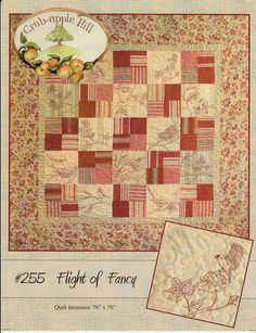 Bird Quilt Pattern Flight of Fancy 255 by AnnadaisysFabrics