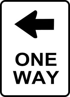LIVING ON A ONE WAY STREET Traffic SignClip Art