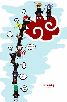 Akatsuki Cloud by Jashinnkyo on DeviantArt Naruto Sharingan, Naruto Uzumaki Shippuden, Naruto Kakashi, Anime Naruto, Naruto Akatsuki Funny, Wallpaper Naruto Shippuden, Naruto Comic, Naruto Cute, Konoha Naruto