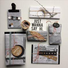 Swap, wrapping, inpakken, cadeau, kado, krant