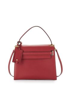 My+Rockstud+Satchel+Bag,+Dark+Red+by+Valentino+at+Neiman+Marcus.
