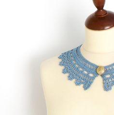Collar de encaje azul Plácido por callmemimi en Etsy