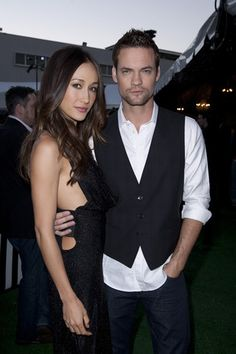 Maggie Q and Shane West at the CW TCA Tent Party at the Beverly Hilton