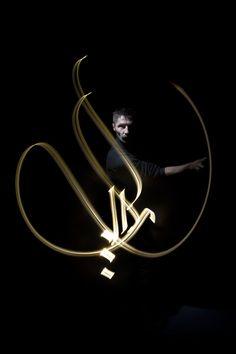 Calligraphie lumineuse par Julien Breton aka Kaalam « Tuxboard