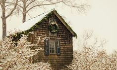 A little bit of Christmas on a Wintery-cabin
