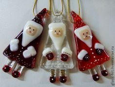 Beautiful Santa Ornaments