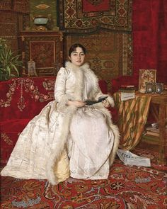carolathhabsburg:  Portrait of Queen Natalija of Serbia. By Uros Predic, 1890s.