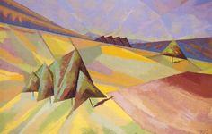 Rudolf Urech-Seon - Landschaft, 1928 Human Soul, Paintings, Sculpture, Artwork, Kunst, Switzerland, Work Of Art, Paint, Auguste Rodin Artwork